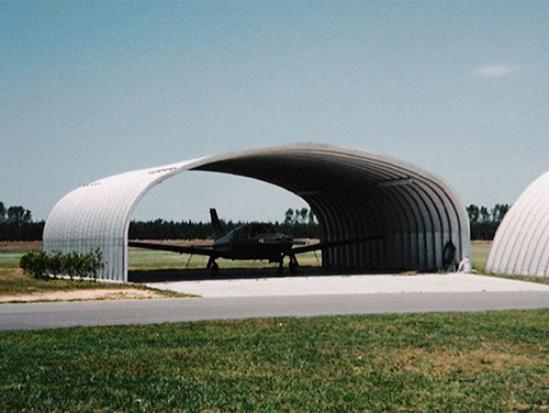 Steel buildings are secure and durable aircraft hangar solutions