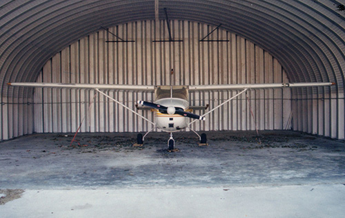 Durable, affordable, secure aircraft hangars for steel buildings from US Buildings