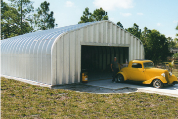 Automotive Garage with Classic Car