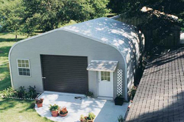 Steel Garage Building with Roll Up Door and Windows