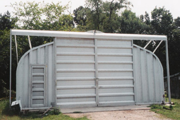 Steel Equipment Storage Building with Sliding Door