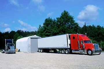 Steel buildings can be a great option to store your transfer truck