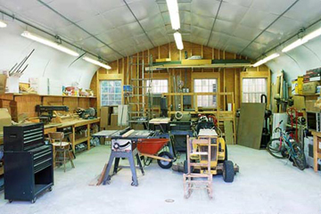 Interior Shot of Steel Workshop