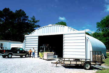 Steel Business Building with Sliding Doors